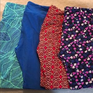 Set of 4 Lularoe leggings